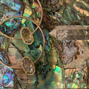 Kendra Scott ELORA gold Abalone Earrings NWT